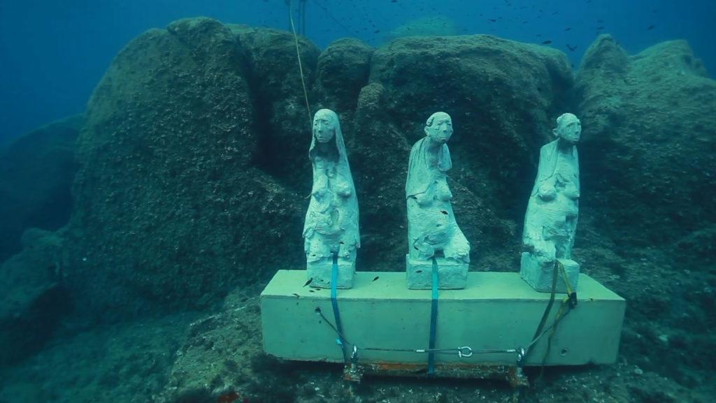 Musée sous-marin Marc Petit – Installation des «Trois silences»