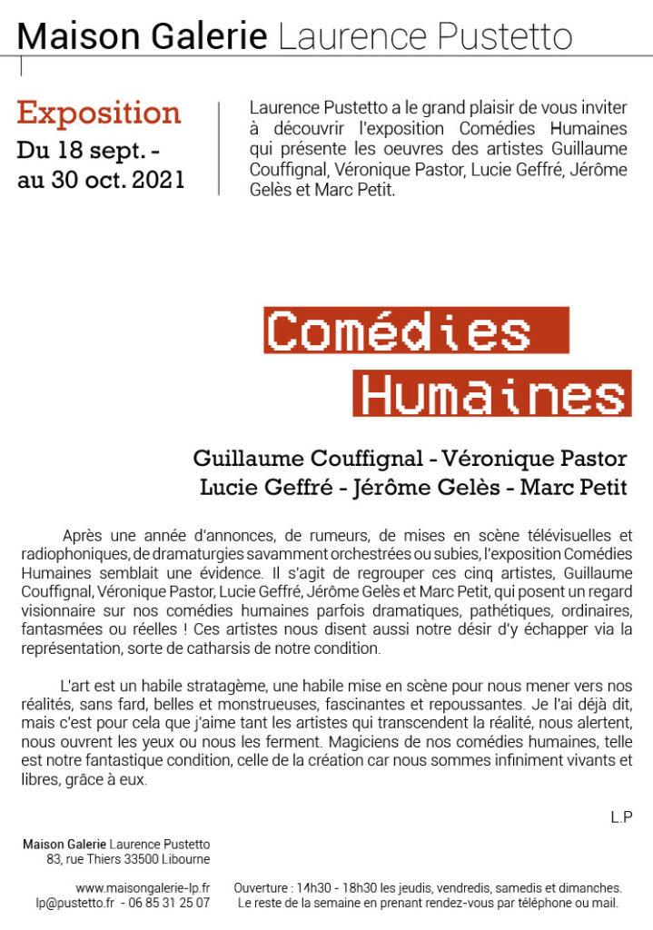 """Exposition """"Comédies Humaines"""" avec Marc Petit"""